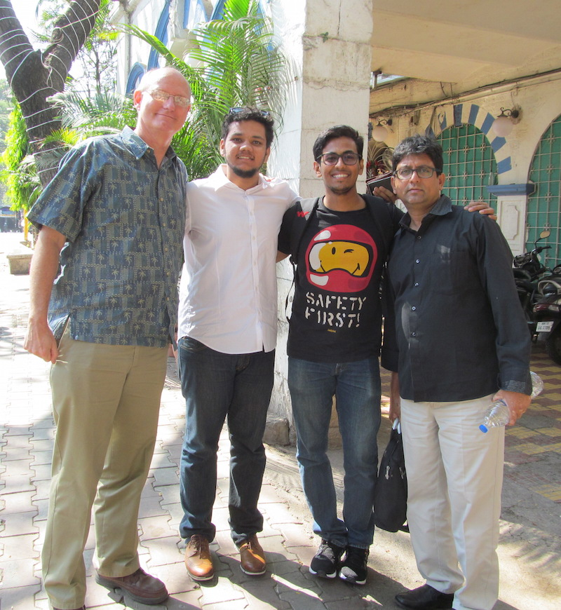 John Oakes and traveling companions in Pune